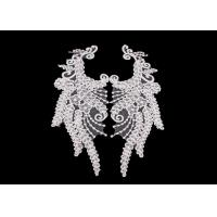 China Polyester Angel Wings Lace Collar Applique For Fashion Show DIY Lace Patch wholesale