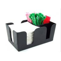 China Solid Black Acrylic Tissue Box , Acrylic Dining Table Display Holder wholesale