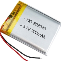 China Custom made PL803040 900mAh 3.7 V Lithium Ion Polymer Battery for sale wholesale