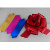 China Cheerleading Accessories Metallic Pom Pom Bows Pull Ribbon Bows wholesale