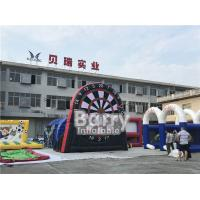 China Interactive Party Game Inflatable Dart Board For Football Soccer Shooting on sale