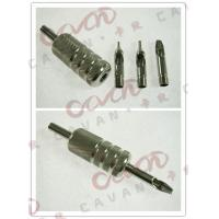 China Screwed Disposable Tattoo Grips , Tattoo Machine Grips With Back Stem wholesale