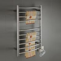 China 10 Bars Round stainless steel wall mounted pratical  elegant  safety heated towel rack wholesale