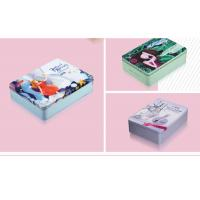 Buy cheap Mirror Makeup Personalised Packing Boxes Small Portable Square Cosmetic Tin Can from wholesalers
