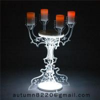 China CH (22) home floor standing acrylic candle holders wholesale