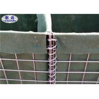 China 3 Mesh Welded Sand Filled Barriers / Stackable Army Defensive Gabion Barrier wholesale