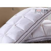 China Durable Hotel Comfort Pillows Duck Down With Embroidery Logo 1100g wholesale