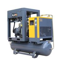 China 15kw 8 Bar Low Noise Industrial  Screw  Air Compressor Prices with Air Tank and dryer wholesale