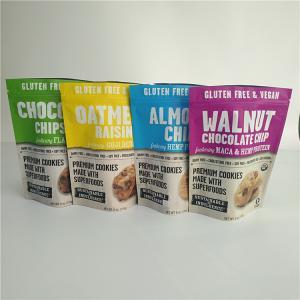 China Gluten Free Snack Bag Packaging Food Packaging Cookies Smell Proof Bags With Ziplock wholesale