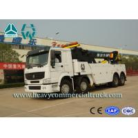 Quality White 8X4 Heavy Duty Rotator Wrecker Tow Truck With Boom Rotation 360° for sale