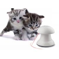 China Automatic Rotating Cat Laser Toy In White Color With 4 Speed / Time Setting wholesale