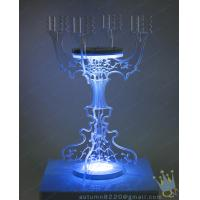 China CH (2) clear Acrylic long stem candle holder wholesale