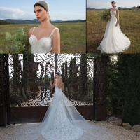 China Backless Lace Womens Wedding Dresses summer in White , plus size wholesale