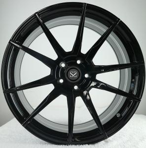 Gloss Black  Customized 20 Staggered Car Alloy Rims For Ferrari 458