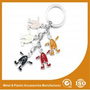 China Elegant Colorful Metal Personalised Keyrings Promotional Key Chains wholesale