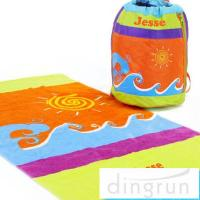 China Portable Design Sports Team Beach Towels , Lightweight Beach Towels on sale