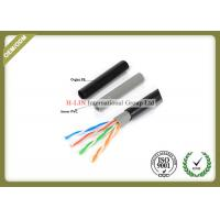 Quality HDPE Insulation Cat5e STP / FTP Network Lan Cable Twisted Pair 24AWG for sale