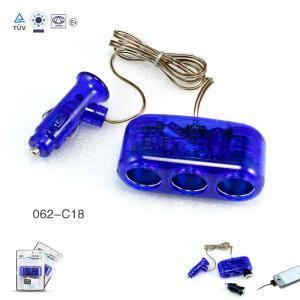 China Plastic Three Socket Car Cigar Lighter Car Charger wholesale