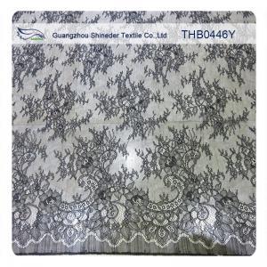 China 100% Nylon Lace Fabric Fashion Garments Wedding Dress Floral Stretch Lace Fabric wholesale