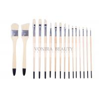 China Artist Professional Body Paint Brushes Set With Carrying Case 16Pcs Watercolor Oil Acrylic Painting Brushes wholesale