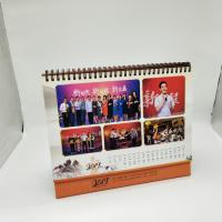 Buy cheap Paper Personalised Desk Calendar / Logo Printing Stand Up Desk Calendar from wholesalers