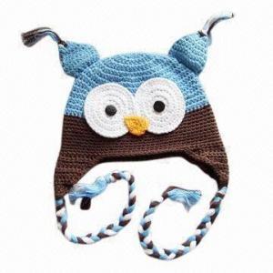 China Hand Crochet Children's Hat/Owl Hat wholesale