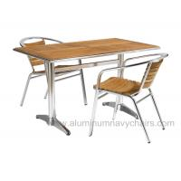 Quality Sherwood Modern Dining Aluminum Outdoor Table For Office , Wooden Table Tops for sale