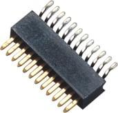 China 90° SMT 1 Mm Pitch Pin Header Connector / Single Row Pin Header wholesale