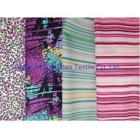 China Weft Cotton Poplin Elastic Stretch Fabric  Reactive Print  for Shirt and Dresses wholesale