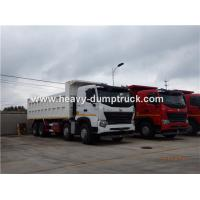 HOWO A7 8X4 12 Wheeler Heavy Duty Dump Truck With 30m³ Cubage Capacity For Mining