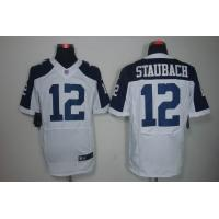 China Nike NFL Dallas Cowboys 12 Staubach Thanksgiving White Elite Jersey  www.doamazingbusiness wholesale