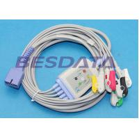 China Disposable 5 Lead ECG Placement , ECG Lead Clips IEC / AHA Standard TP3010 wholesale