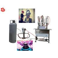 China High Capacity Aerosol Spray Paint Can Filling Machine Semi Automatic wholesale