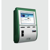 China Wall Mounted Kiosk With Touch Screen / Cash coin acceptor / Card Reader / Card Dispenser wholesale
