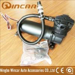 Quality Black Color Suspension 12V Portable Air Compressor For Car Tires CE Approved for sale