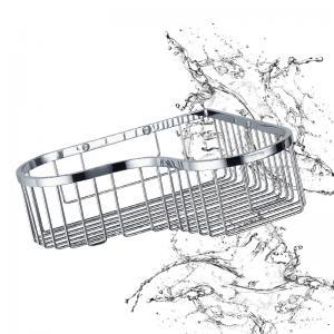 China Bathroom Accessory Corner Basket Shelf Stainless Steel Easy Installation wholesale