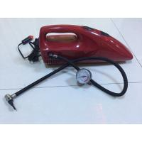 China 2 In 1 DC 12V Red And Yellow Fancy Portable Car Vacuum Cleaner For Car With Inflation Fuction wholesale