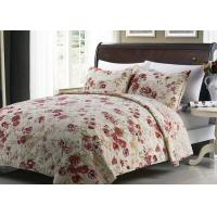 China White Quilted Bedspreads And Coverlets 3pcs Printed Machine Quilting wholesale