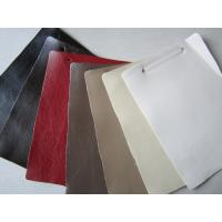 China Easy Clean Polyurethane Faux Textured Leather Fabric For Sofa Cushions wholesale