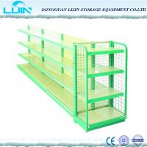 China 5 Levels Metal Supermarket Display Racks Powder Coated Surface Various Color wholesale