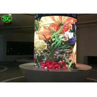 China P4 indoor fixed full color column led display , round digital clear led display wholesale
