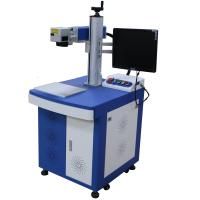 China Blue / White Color Fiber Laser Engraving Machine / Laser Marking Systems 1064nm on sale