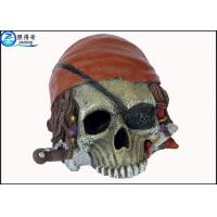 China Personalised Alien Skull Cool Fish Tank Decorations , Marine or Indoor Polyresin Aquarium Craft wholesale