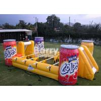 China Commercial Entertainment Mini Inflatable Soccer Game For Play 3 Years Warranty wholesale