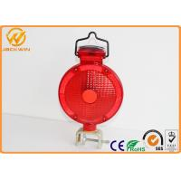 Quality Traffic Barricade Lamp Solar LED Strobe Warning Lights Red Yellow Road Safety for sale