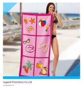 China Custom printed promotional beach towel / bath towel wholesale
