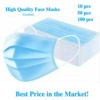 China Earloop Style Blue Non Woven Face Mask , Surgical Grade 3 Layer Face Mask wholesale