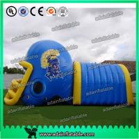 China Colorful PVC Inflatable Helmet Tunnel / Inflatable Football Helmet Tunnel wholesale