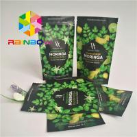 Quality Stand Up Ziplock Plastic Pouches Packaging Aluminum Foil Lined Matcha Powder for sale