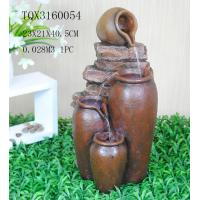 China Outdoor Large Household Ceramics Polyresin Water Fountain Pot Design 22.5 X 22.5 X 42 Cm wholesale